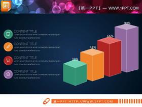40张彩色扁平化综合关系PPT图表合集