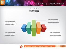 40�彩色扁平化�M合�P系PPT�D表