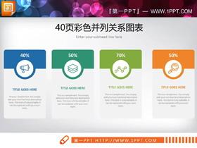 40�彩色并列�P系PPT�D表合集
