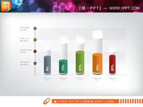 40套彩色精致商务PPT图表合集