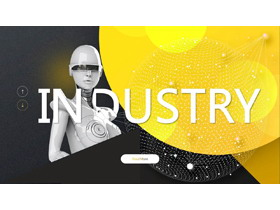 酷炫机器人工业2.0主题PPT模板