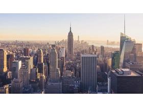 发达城市建筑PPT背景图片