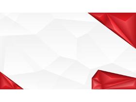红色低平面多边形PPT背景图片