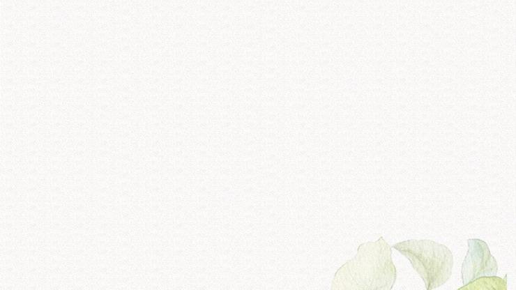 五张清新淡雅水彩向日葵PPT背景图片