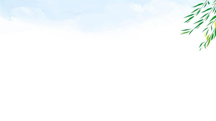 清新水彩荷花荷叶PPT背景图片