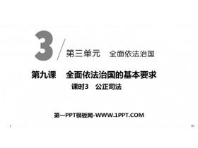 《公正司法》PPT课件