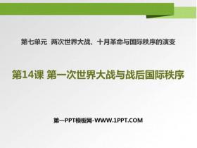 《第一次世界大�鹋c�疳���H秩序》PPT�n件
