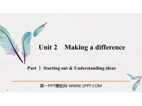 《Making a difference》PartⅠ PPT�n件