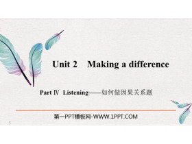 《Making a difference》PartⅣ PPT�n件