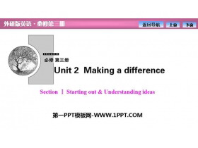 《Making a difference》SectionⅠ PPT�n件