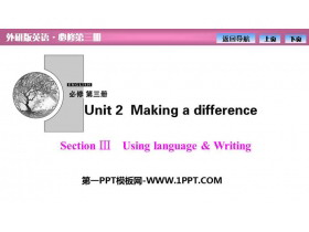 《Making a difference》SectionⅢ PPT�n件