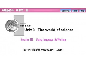 《The world of science》SectionⅢ PPT�n件