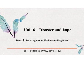 《Disaster and hope》PartⅠ PPT�n件