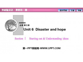 《Disaster and hope》SectionⅠ PPT�n件