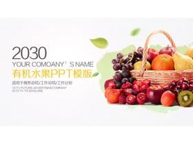 水果果篮背景PPT模板