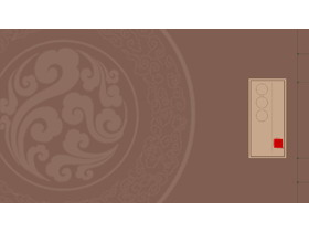 古典��b��籍封面PPT背景�D片
