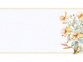 水彩花卉PPT背景图片