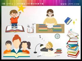 学生与书籍PPT素材