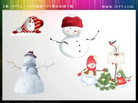 圣诞雪人PPT素材