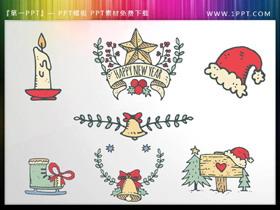19个彩色复古卡通圣诞节PPT素材