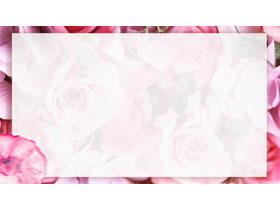 玫瑰花PPT背景图片