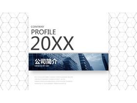 精致立体网纹背景公司介绍画册PPT模板