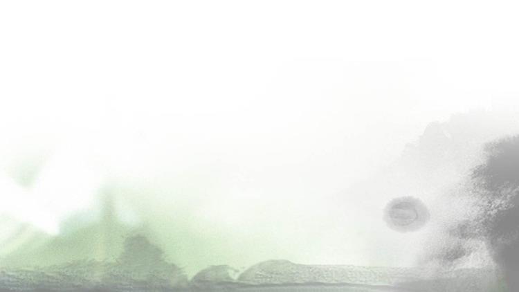 水墨群山云海古典�LPPT背景�D片
