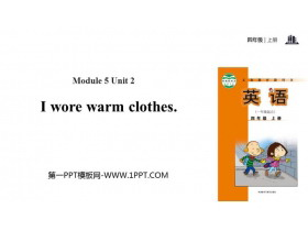 《I wore warm clothes》PPT教�W�n件