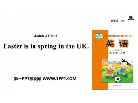 《Easter is in Spring in the UK》PPT教�W�n件