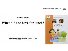 《What did she have for lunch?》PPT教�W�n件