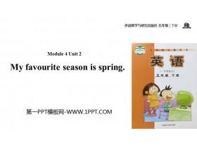 《My favourite season is spring》PPT教�W�n件