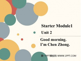 《Good morning.I'm Chen Zhong》PPT�n件下�d