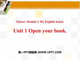 《Open your book》PPT免�M�n件