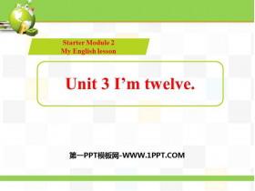 《I'm twelve》PPT教�W�n件