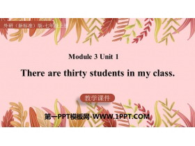 《There are thirty students in my class》PPT精品�n件