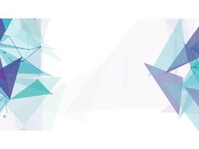 蓝绿配色的多边形PPT背景图片