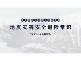地震灾害安全避险常识PPT下载