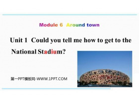 《Could you tell me how to get to the National Stadium?》around town PPT教�W�n件