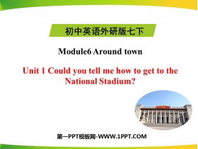 《Could you tell me how to get to the National Stadium?》around town PPT精品�n件