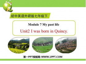 《I was born in Quincy》my past life PPT�n件下�d