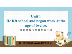 《He left school and began work at the age of twelve》Life history PPT精品�n件