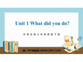 《What did you do?》A holiday journey PPT精品�n件