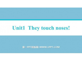 《They touch noses》Body language PPT教�W�n件