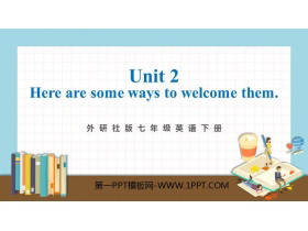 《Here are some ways to welcome them》Body language PPT�n件下�d