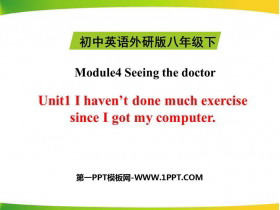 《I haven't done much exercise since I got my computer》Seeing the doctor PPT教学课件