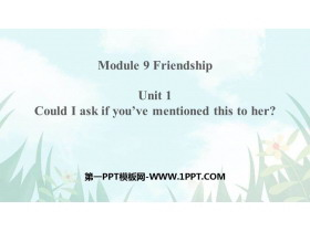 《Could I ask if you've mentioned this to her?》Friendship PPT课件下载