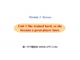 《She trained hardso she became a great player later》Heroes PPT教学课件