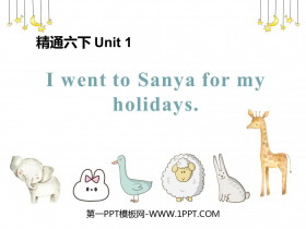 《I went to Sanya for my holidays》PPT教学课件