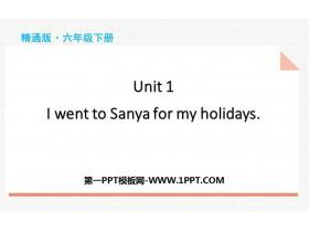 《I went to Sanya for my holidays》PPT精品课件