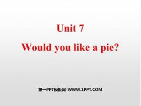 《Would you like a pie?》PPT�n件